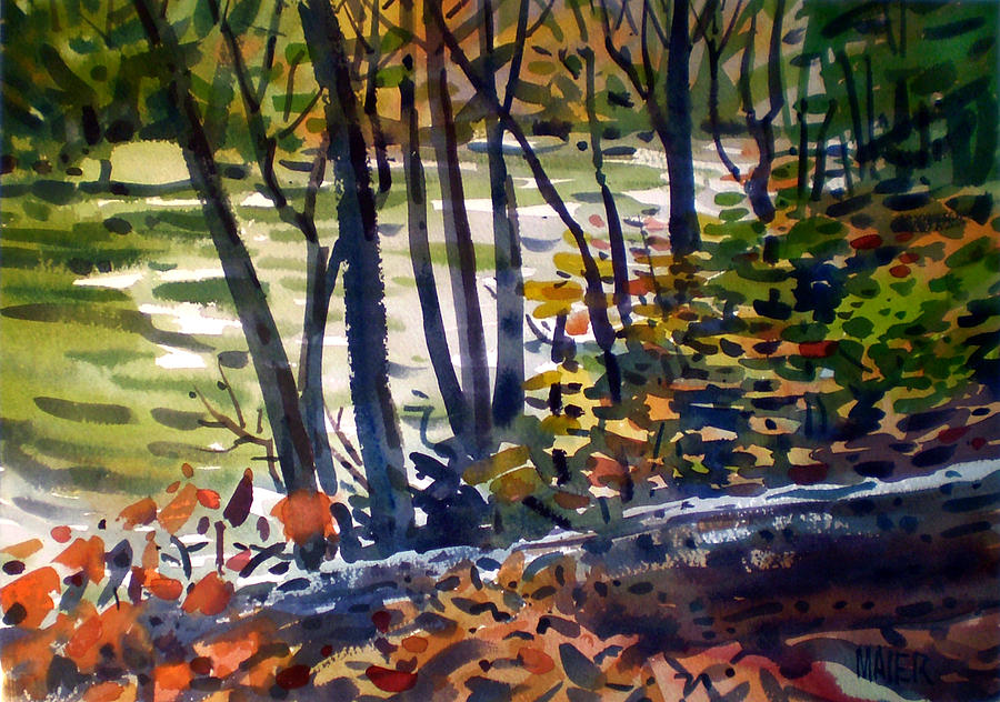 Sope Creek Painting - Creekside Tranquility by Donald Maier