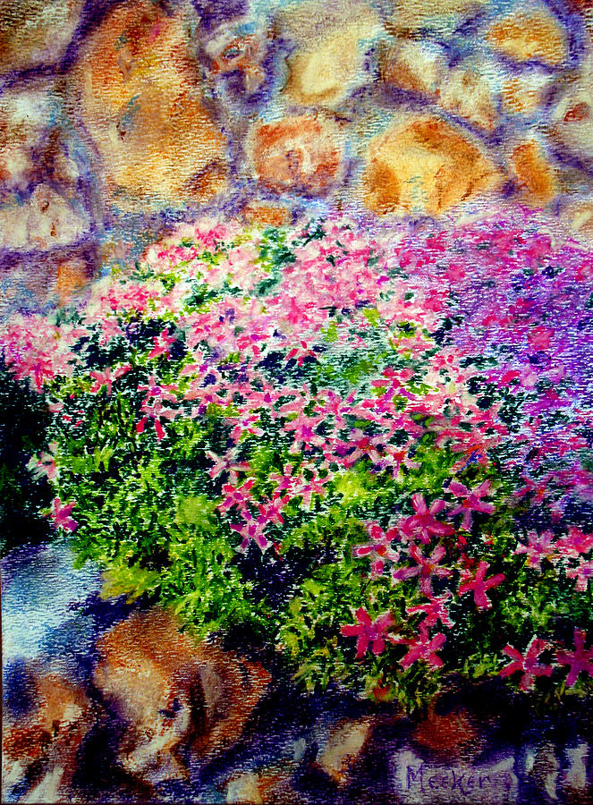 Floral Painting - Creeping Phlox by Bill Meeker