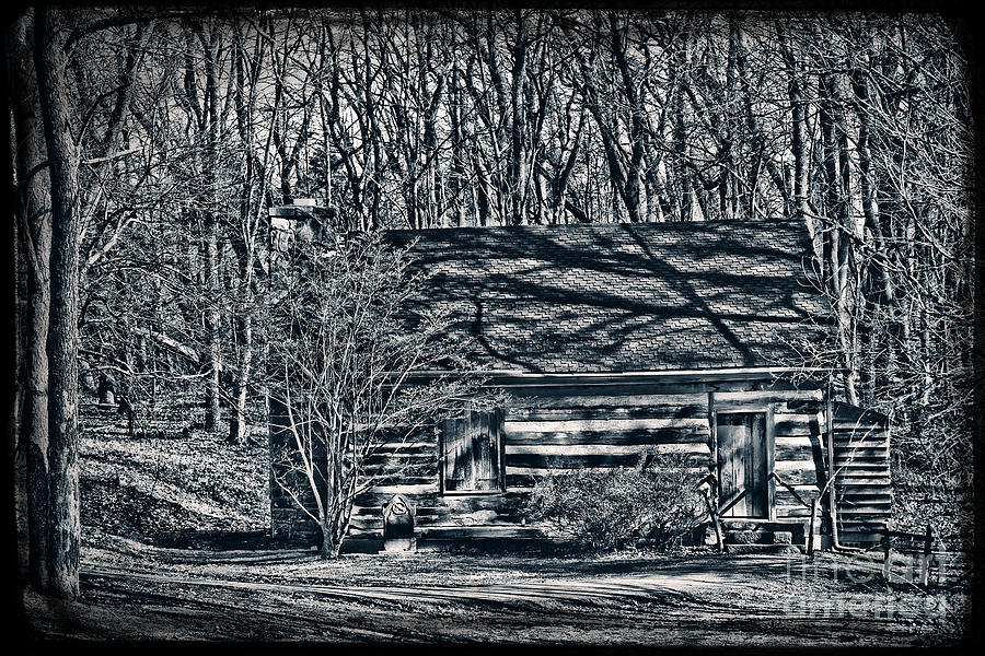 Cabin Photograph - Creepy Cabin In The Woods by Sharon Dominick