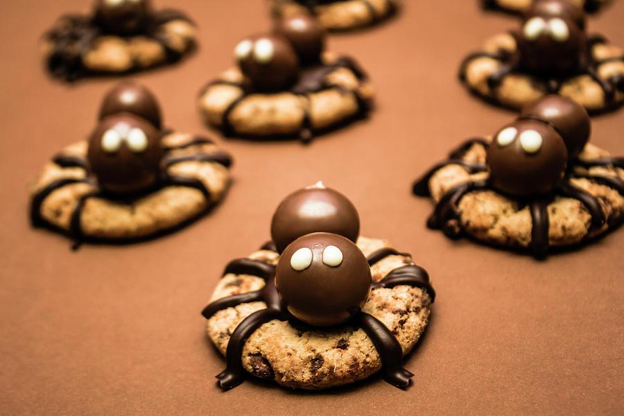 Food Photograph - Creepy Crawly Spider Bites. Halloween Food by Jorgo Photography - Wall Art Gallery