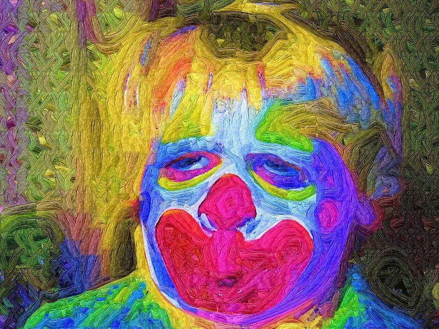 Clown Painting - Creepy The Clown by Deborah MacQuarrie-Selib
