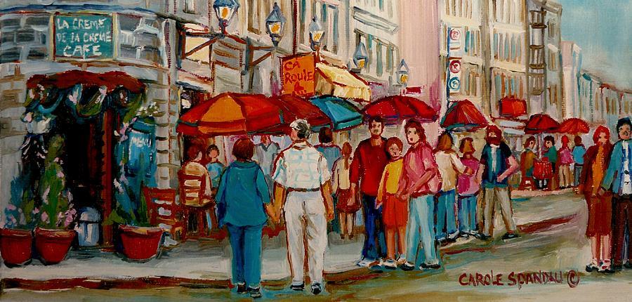 Montreal Painting - Creme De La Creme Cafe by Carole Spandau