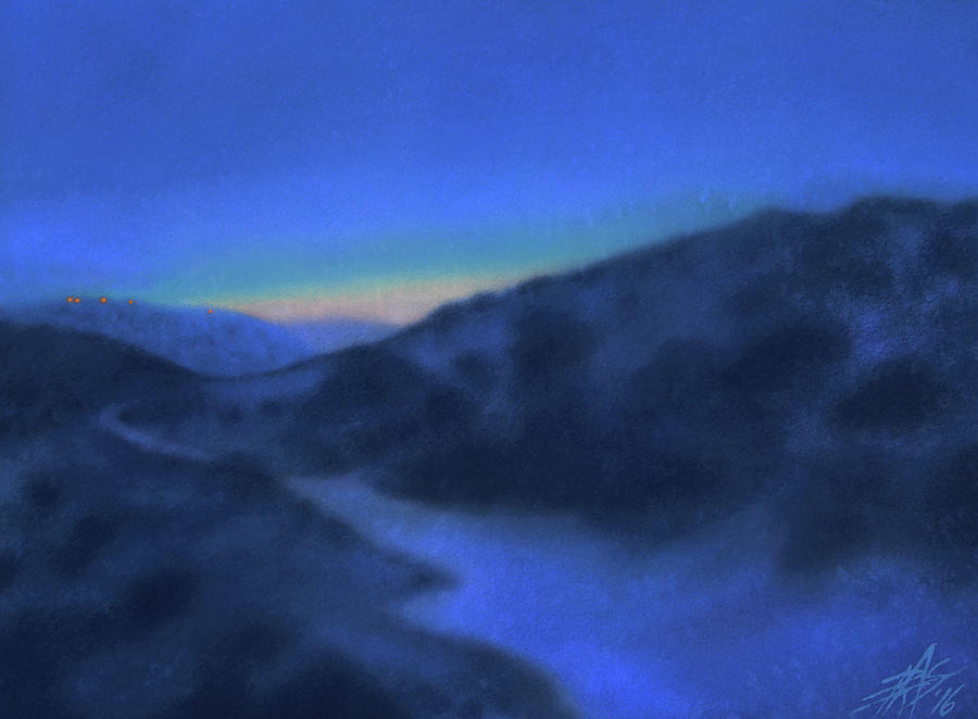 Landscape Painting - Crepuscule Or Los Penasquitos Canyon Xiv by Robin Street-Morris