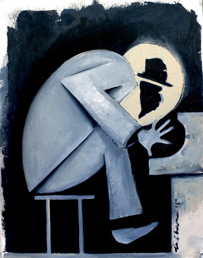 Thelonious Monk Painting - Crepuscule by Martel Chapman