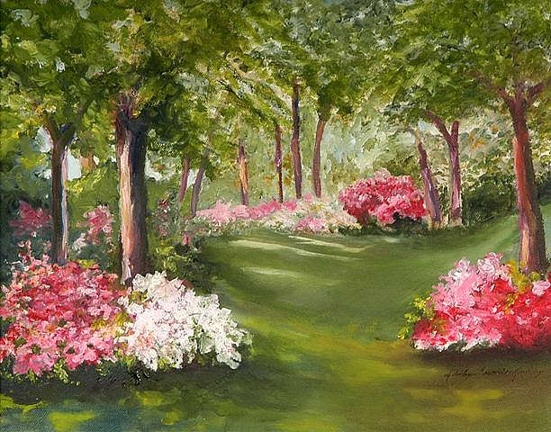 Landscape Painting - Crescendo by Shirley Lawing