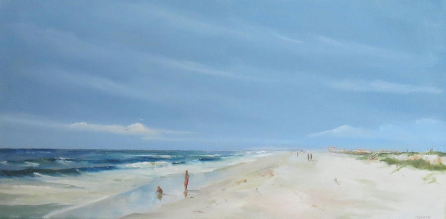 St Augustine Painting - Crescent Beach Looking South by Jim Christley