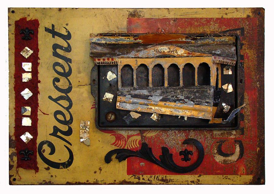 Crescent City Streetcar Mixed Media by Lori Gordon