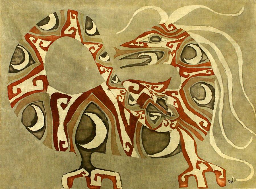 Dragon Tapestry - Textile - Crescent Dragon by Carol  Law Conklin