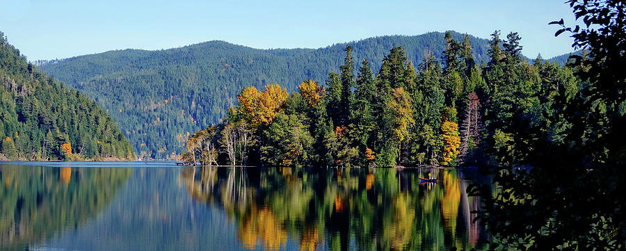 Lake Photograph - Crescent Lake Fall Colors by Rick Lawler