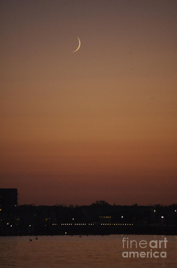 Crescent Photograph - Crescent Sunset by Faith Harron Boudreau