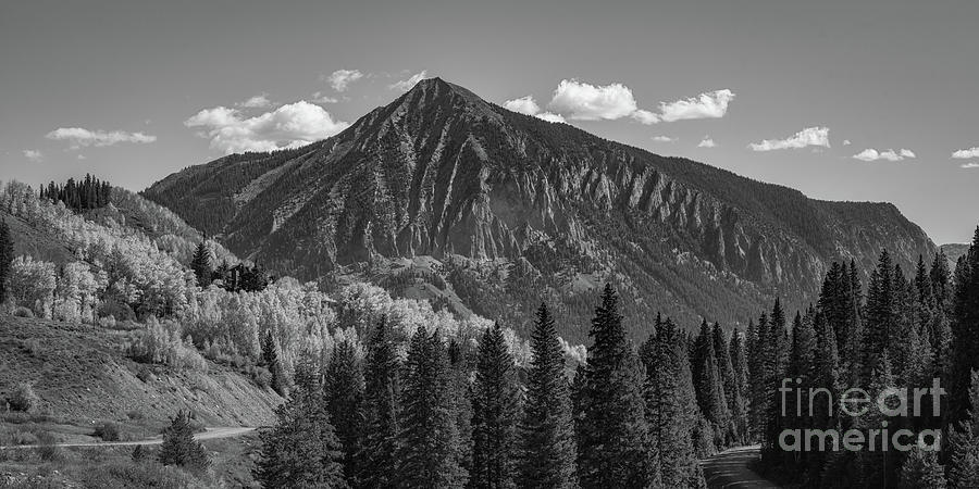 Crested Butte Photograph - Crested Butte Mountain Bw by Michael Ver Sprill