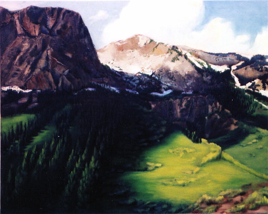 Landscape Painting - Crested Butte by Patricia Reed