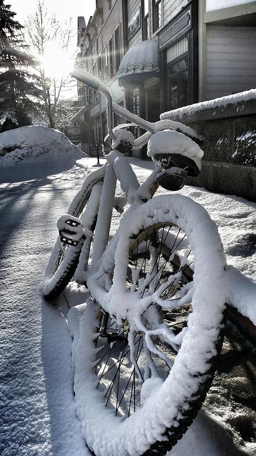 Bike Photograph - Crested Butte Snow Bike by Fiona Kennard