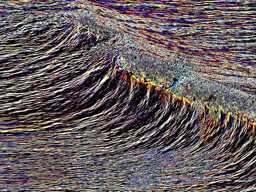 Waves Photograph - Cresting by Tim Allen