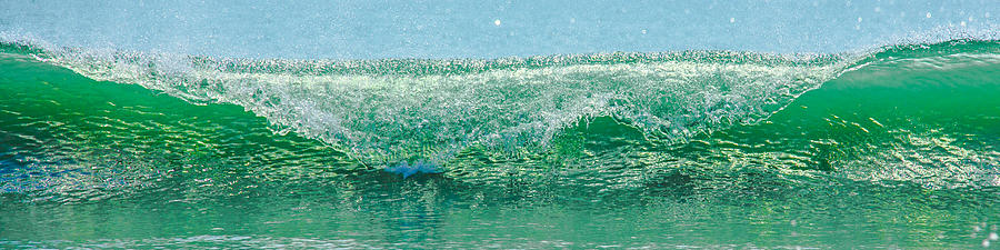 Gods Creation Photograph - Cresting Wave by Paula Porterfield-Izzo