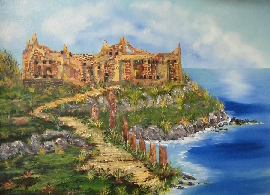 Cretian Ruins Painting by Larry Doyle