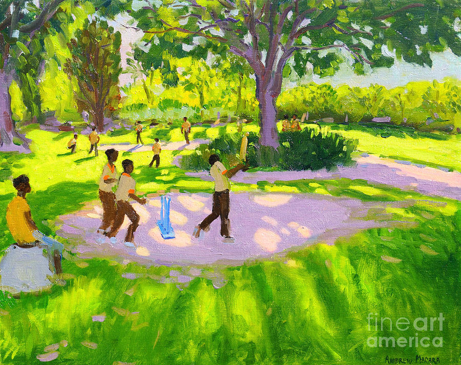 Cricket Painting - Cricket Practice by Andrew Macara