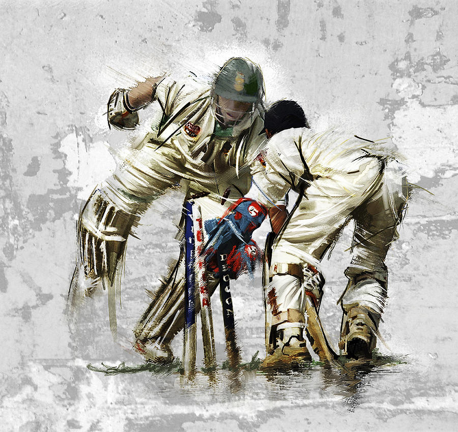 English Painting - Cricket1 by James Robinson