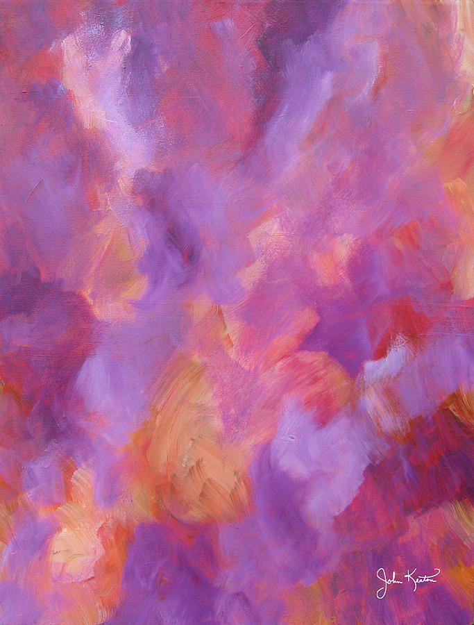 Abstracts Painting - Crimson - Violet - Fire by John Keaton