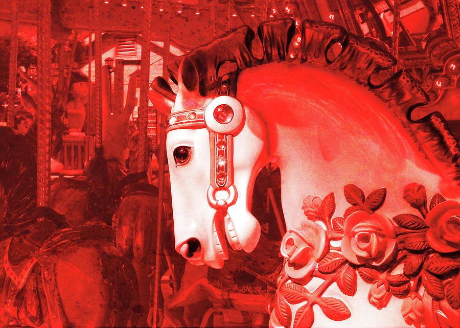 Horse Photograph - Crimson Carousel by JAMART Photography
