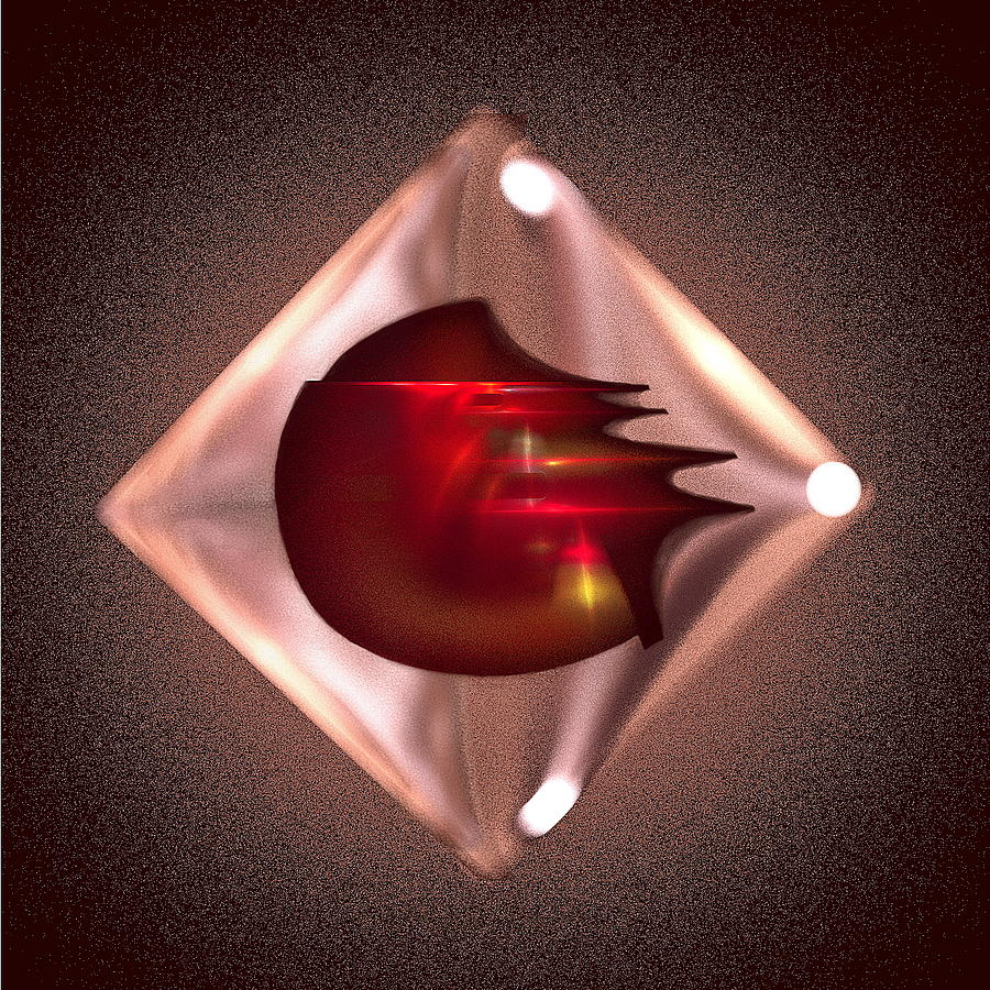 Crimson Digital Art - Crimson Heart by Viktor Savchenko