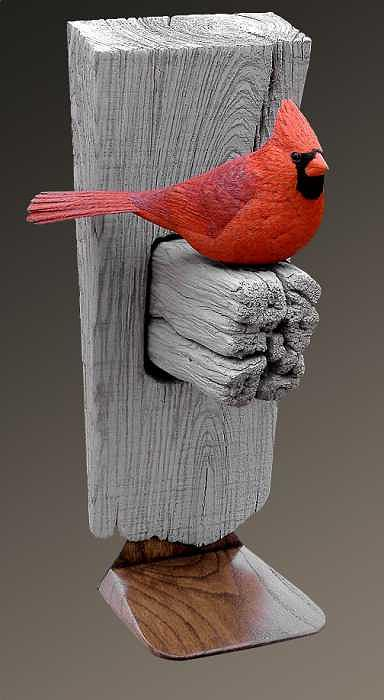 Cardinal Sculpture - Crimson Majesty by Marc  Barger