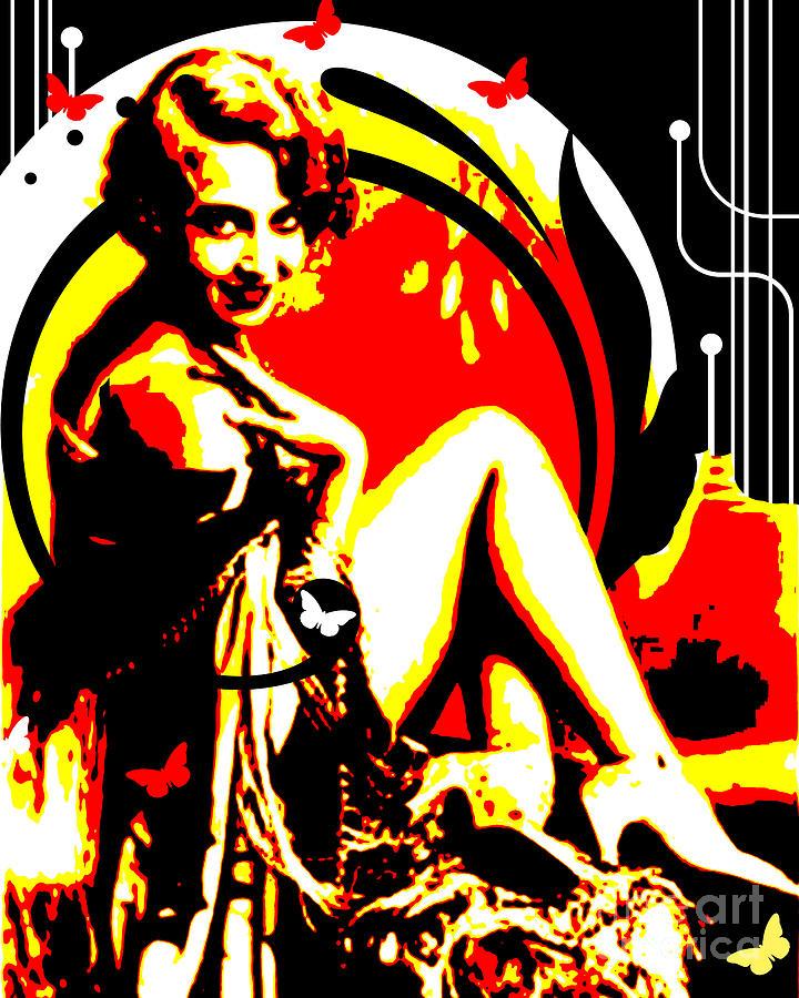 Vintage Digital Art - Crimson Moon by Chris Andruskiewicz