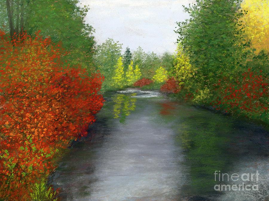 Crimson Riverbank by Ginny Neece