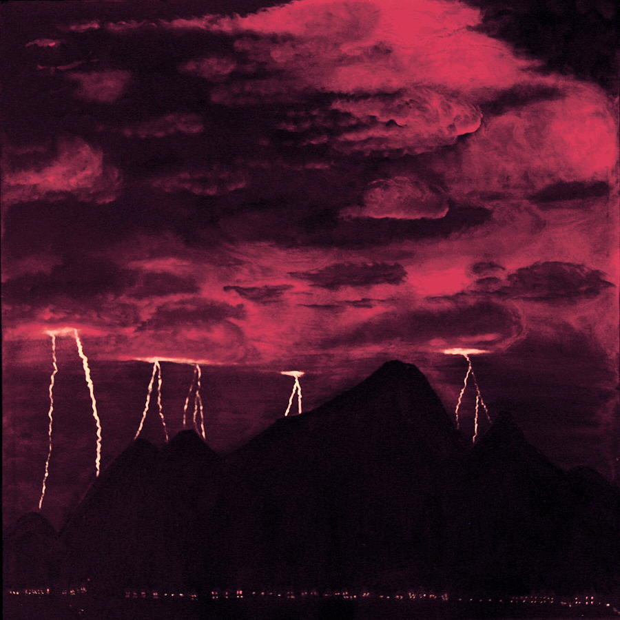 Painting Painting - Crimson Storm by Dawn Hay