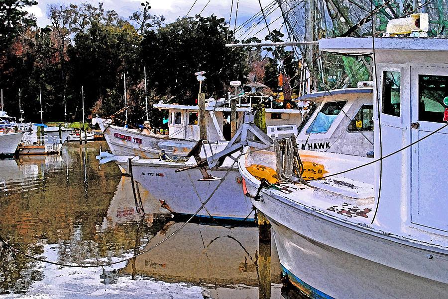 Shrimp Boat Painting - Crimson Tide by Michael Thomas