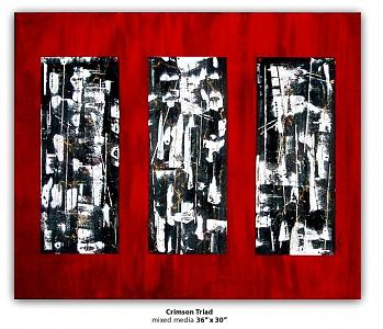 Abstract Painting - Crimsontriad by Susie Gilmour