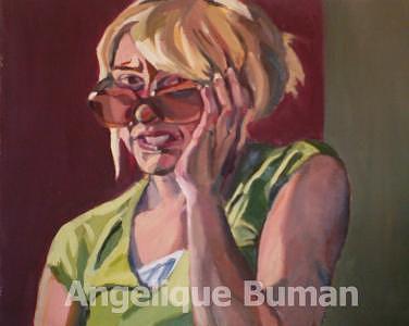 Conceptual Painting - Cringe by Angelique Bowman