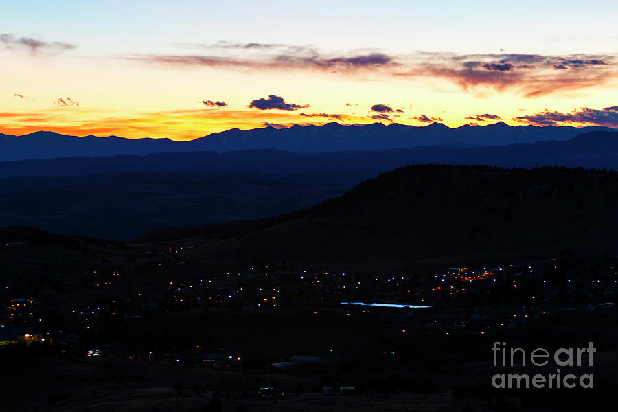 Cripple Creek Mountain Sunset Photograph