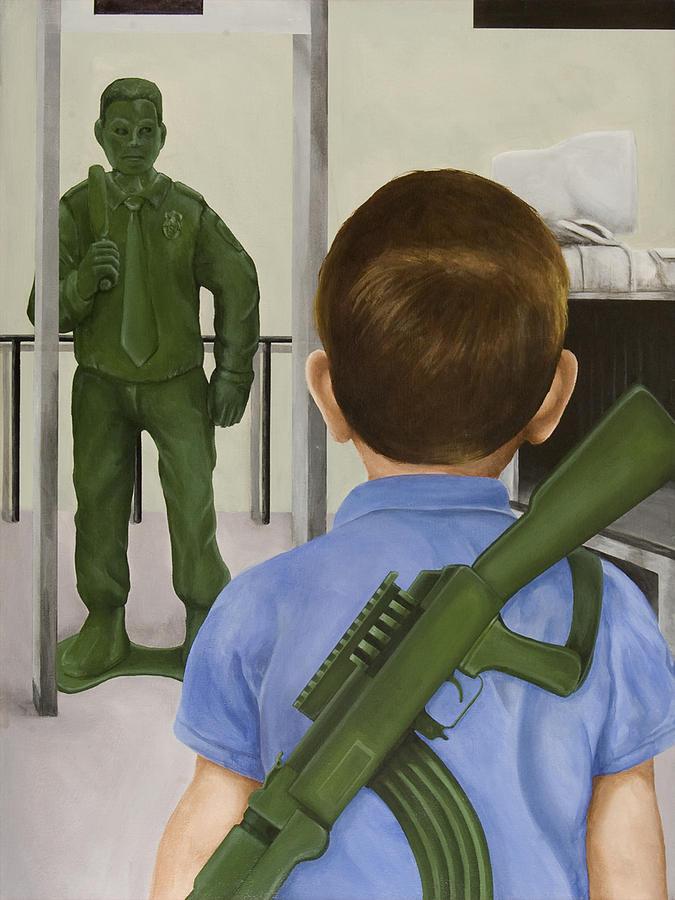 Boy Painting - Crisis Averted by Josh Bernstein