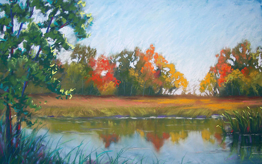 Spears Woods Pastel - Crisp Autumn Morning Spears Woods by Christine Camp