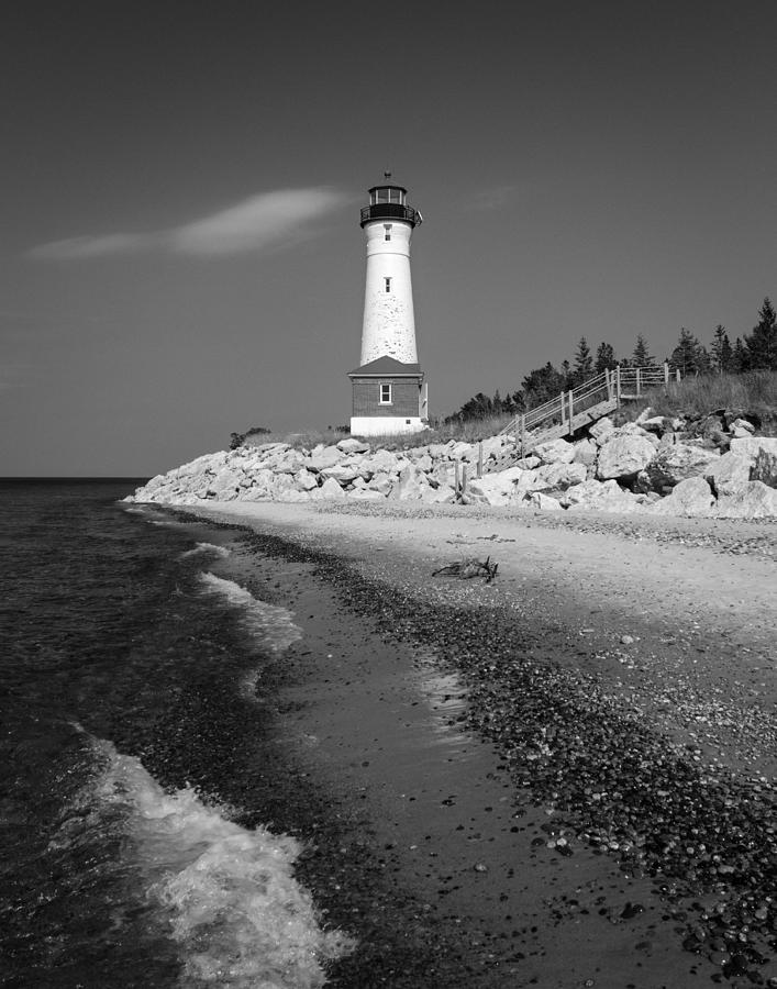 Crisp Photograph - Crisp Point Lighthouse by Kimberly Kotzian