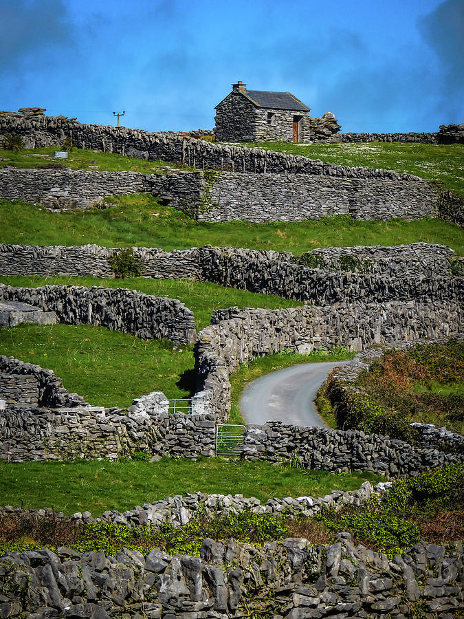 Ireland Photograph - Criss-crossed Stone Walls Of Inisheer by James Truett