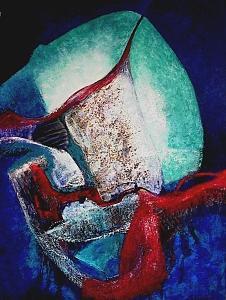 Abstract Painting - Cristal De Agata by Martha Elisa Bojorquez