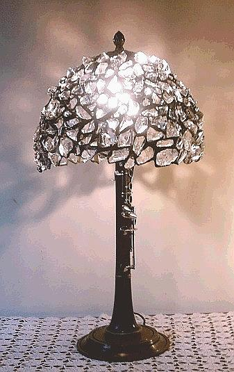 Music Glass Art - Cristal Silence Lamp by Greg Gierlowski