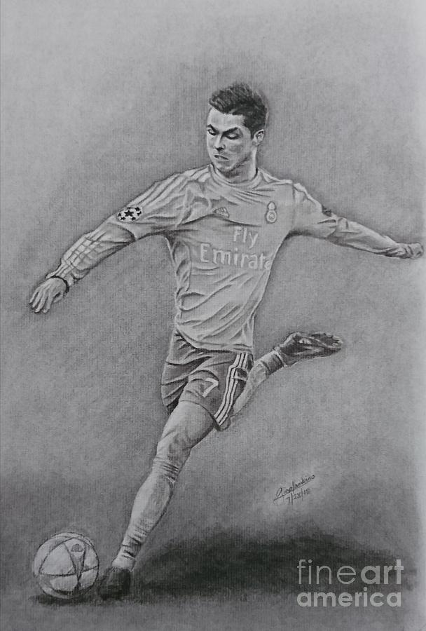 Cristiano Ronaldo Drawing By Gino Lambino