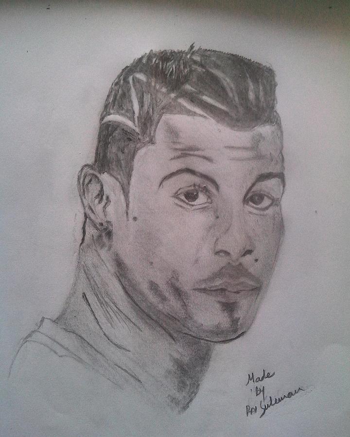 Cristiano Ronaldo Drawing By Rai Suleman