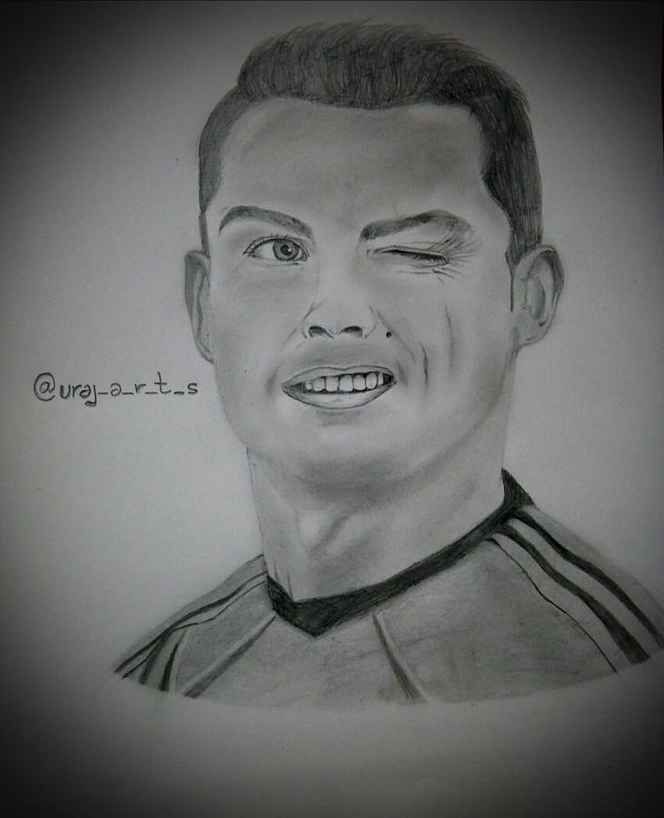 Cristiano Ronaldo Sketch Drawing By Udit Raj