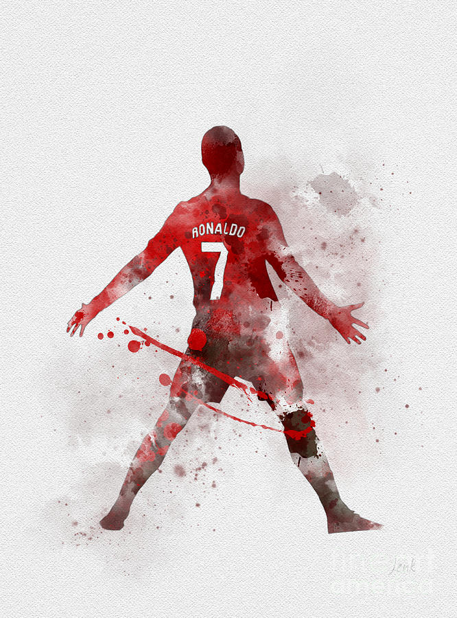Cristiano Ronaldo Mixed Media - Cristiano Ronaldo United by My Inspiration