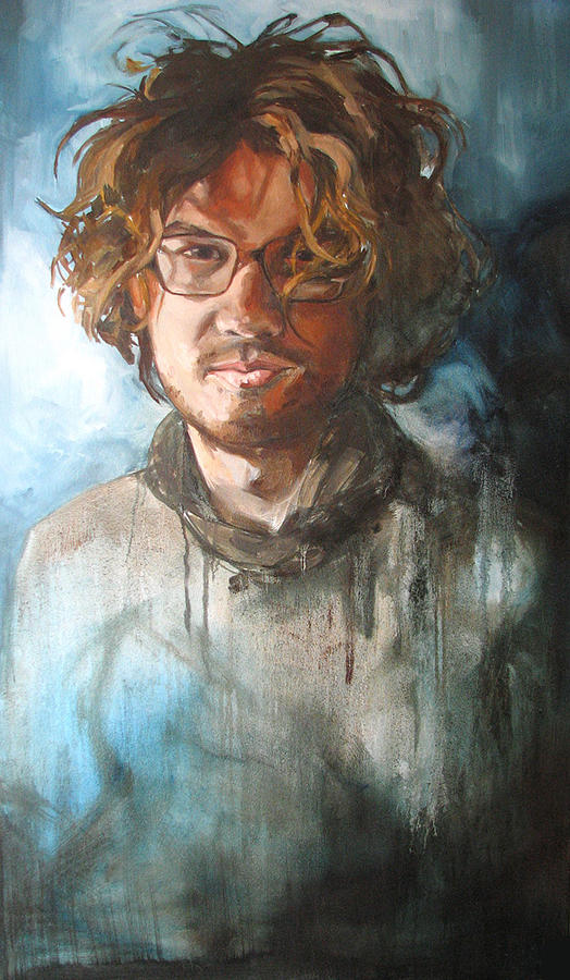 Male Painting - Cristobal by Lucia Rodriguez