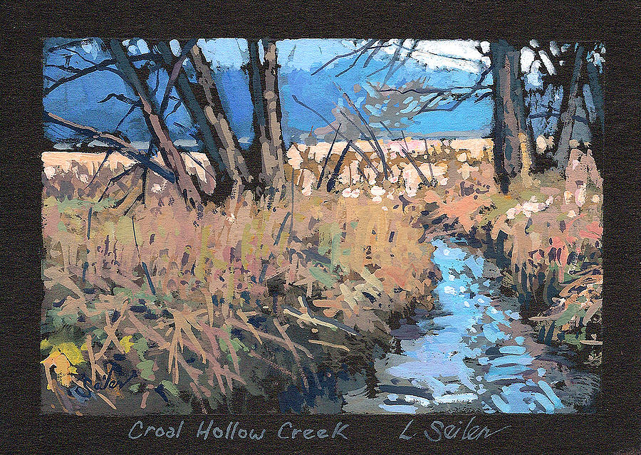 Landscape Painting - Croal Hollow Creek- Series No.6 by Larry Seiler