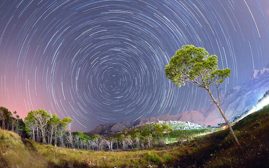Stars Photograph - Croatia Star Trails by Bartosz Wojczynski