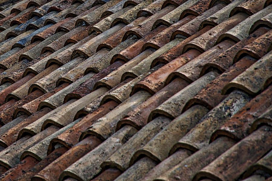 Croatia Photograph - Croatian Roof Tiles by Stuart Litoff