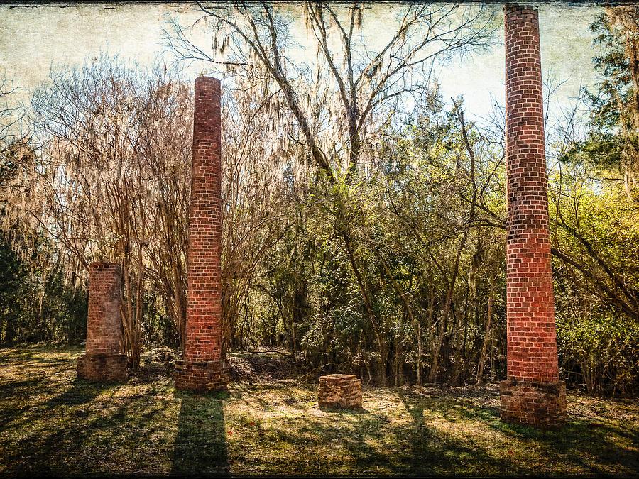 Ghost Town Photograph - Crocheron Columns by Phillip Burrow