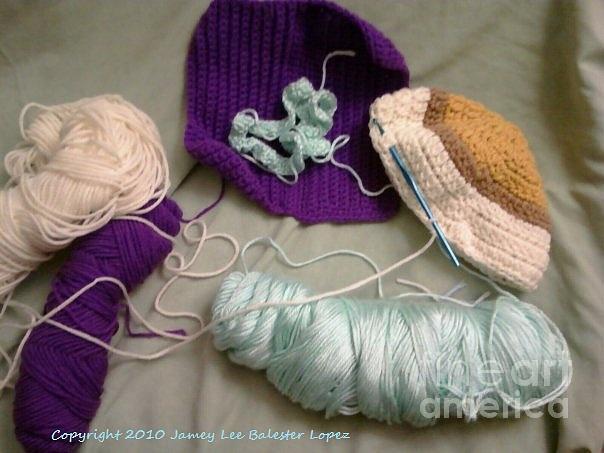 Yarn Photograph - Crochet  by Jamey Balester