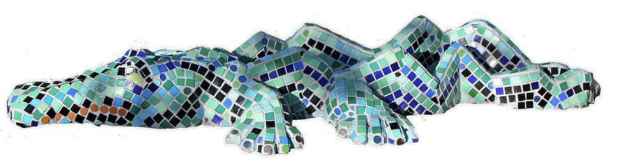 Crocodile Sculpture - Crocodile by Katia Weyher